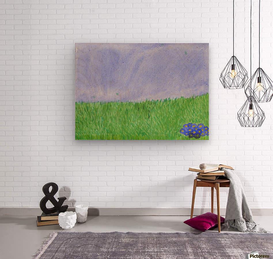 field of grass  Wood print