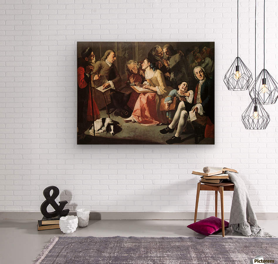 The drawing room 1750  Wood print