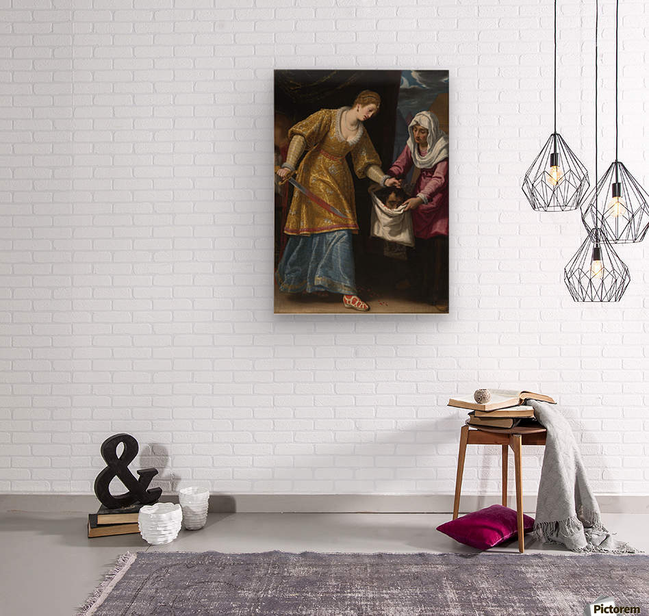Judith and Holofernes  Wood print