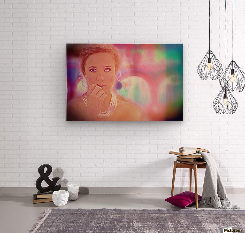 woman pic art  Wood print