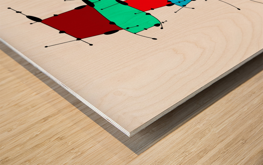 Sanomessia - melting cubes Wood print