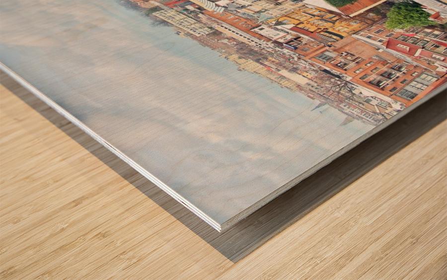 City Roof Tops  Wood print