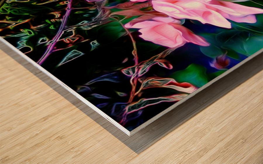 friendsFlower Wood print