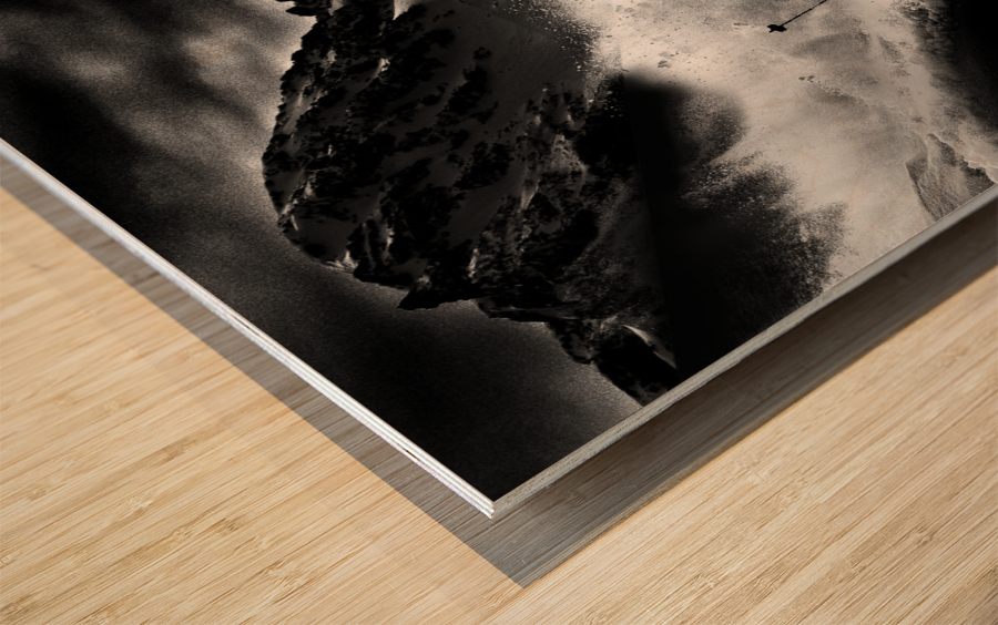Dark Freeride Wood print