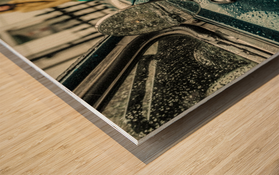 London Rain Wood print
