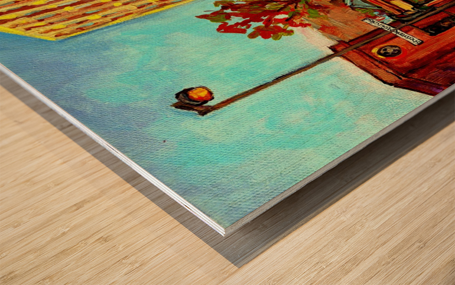 AUTUMN IN MONTREAL MCGILL UNIVERSITY RODDICK GATES  Wood print