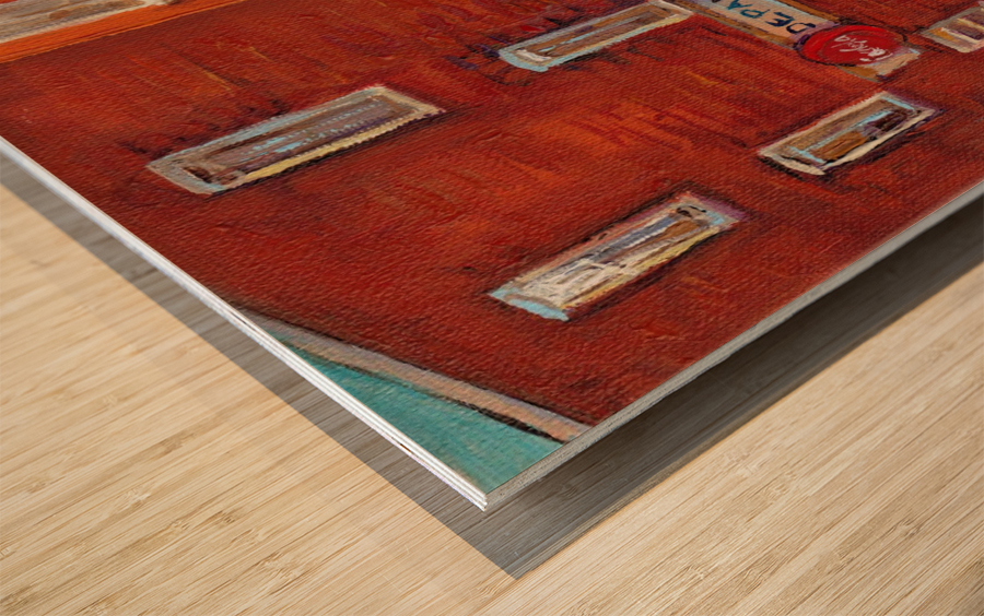 CAROLE SPANDAU  DEPANNEUR BIERE Wood print