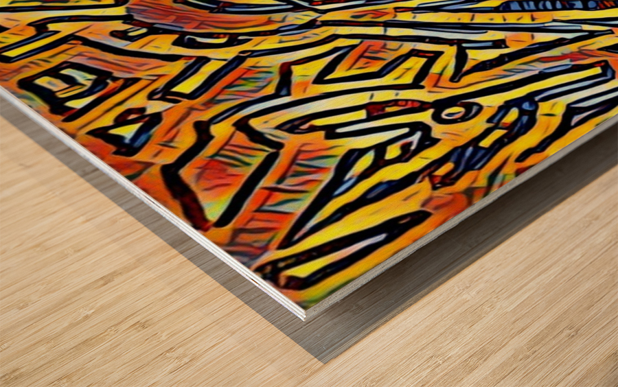 zigurat Wood print