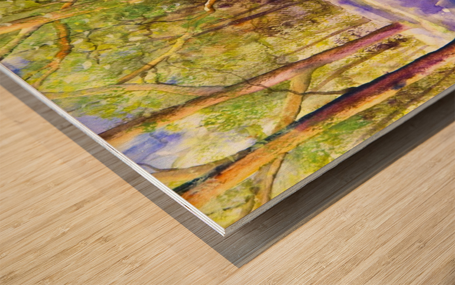 Bluebell Wood  Wood print