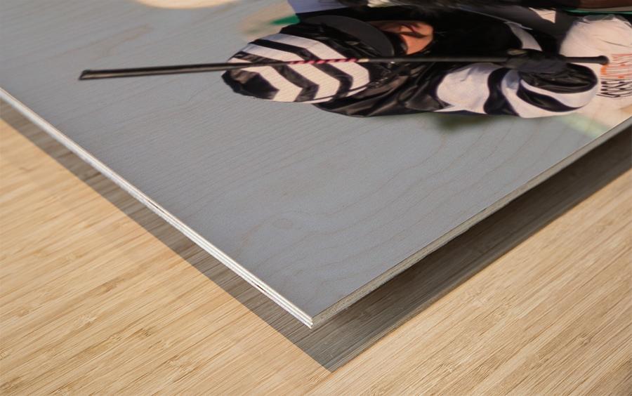 Whip race Wood print