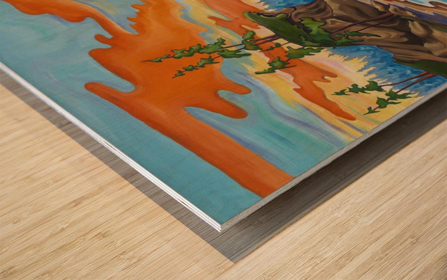 Evening Cove Wood print