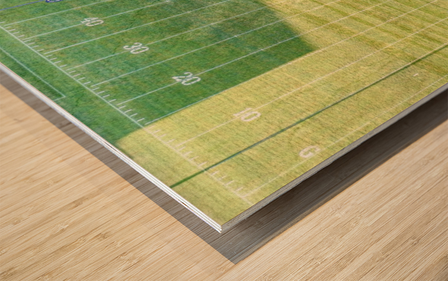 Lonoke, AR | Jackrabbits Football Field Wood print