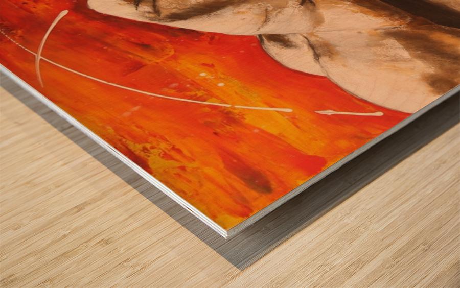 Mis à Nu Wood print