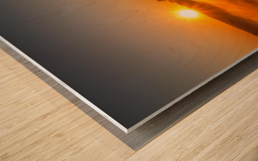 Calgary Sunrise Wood print