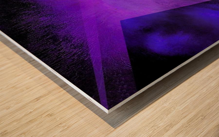 Geometric Abstract B Wood print