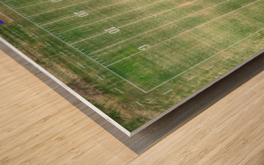 Lawrenceburg, TN | Wildcats Football Field Wood print