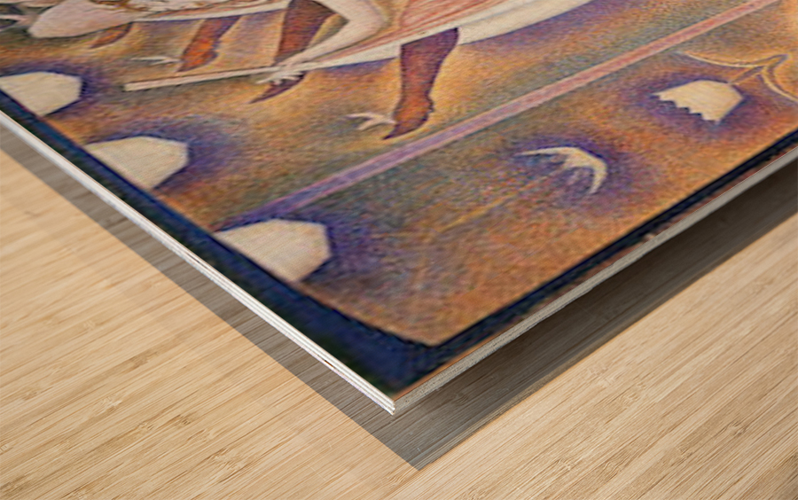The big show by Seurat Wood print