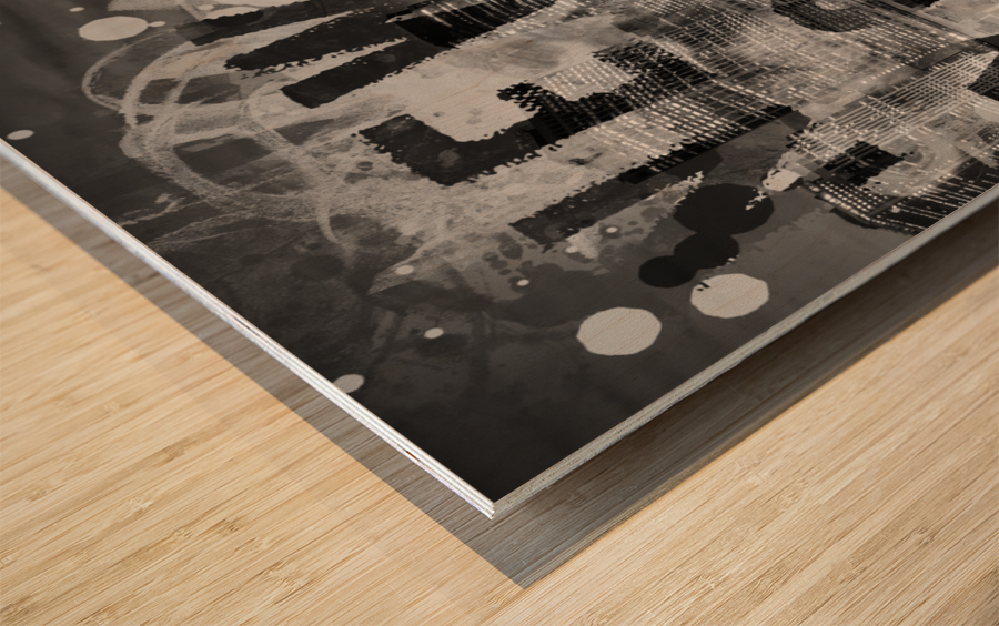 MANHATTAN SKYLINE Evening Atmosphere Wood print