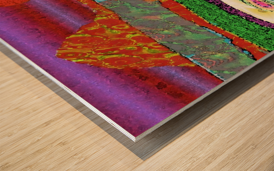 Mountainscape 0625 Wood print
