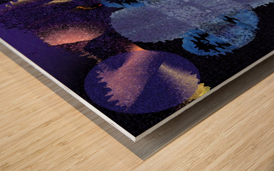 Visitors 654 Wood print