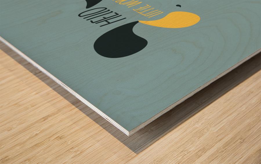 MAISON D INDIEN Wood print