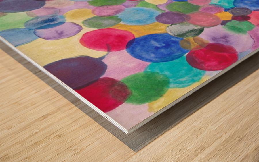 Colored Balls. Wood print
