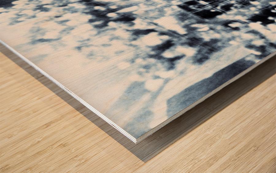 BURST - INVERTED Wood print