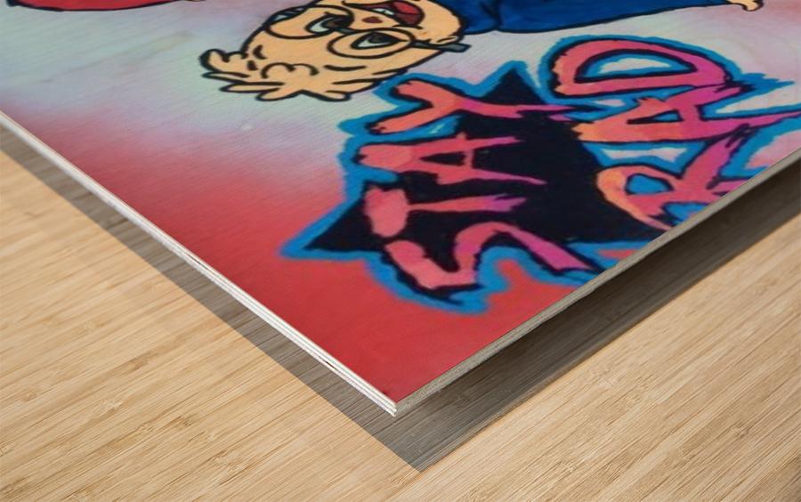 Stay Rad Alvin & The Chipmunks  Wood print