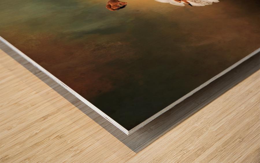 On a Dime Wood print