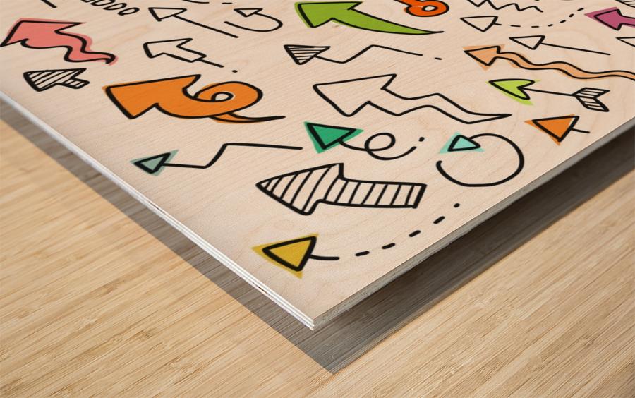 desk Wood print