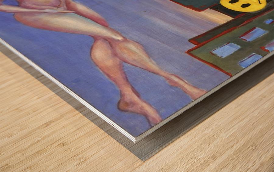 homo smilikus Wood print