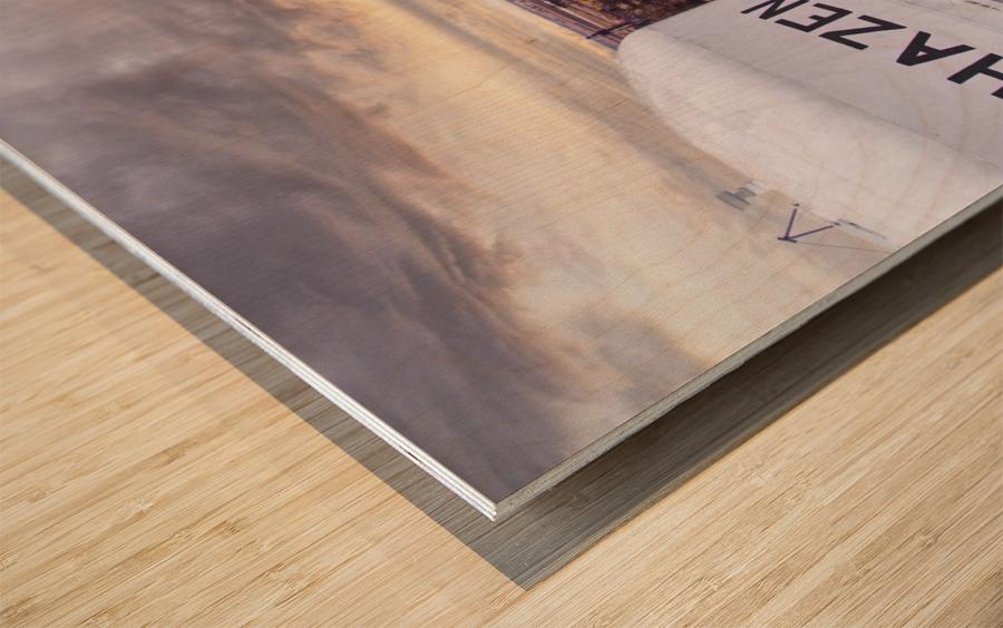 Hazen, AR   Hazen Watertower Wood print