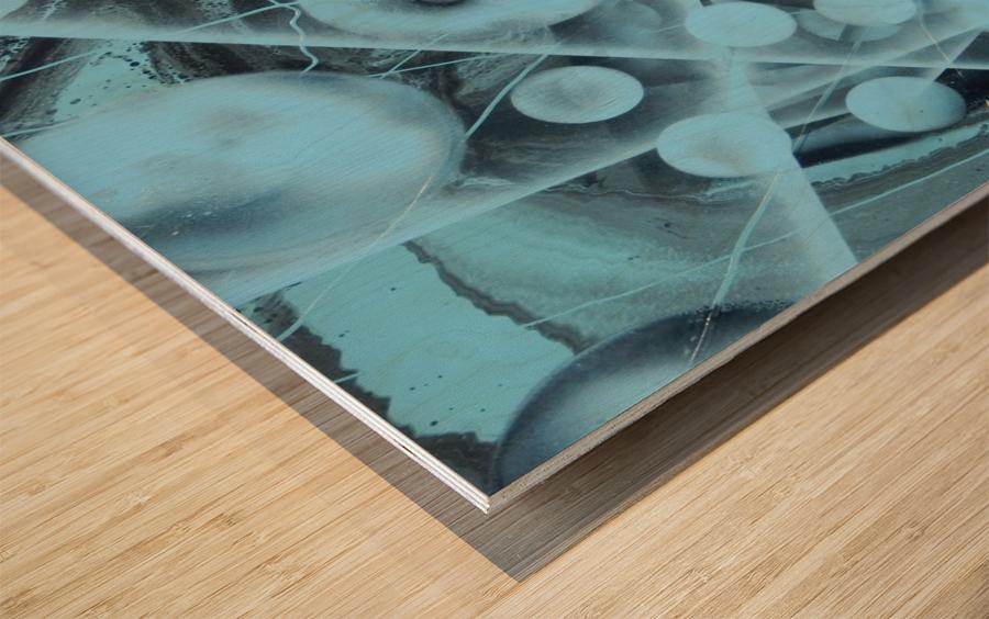 ATOMIC BLUE Wood print