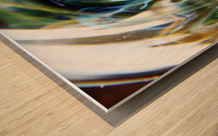GalaxyInGlassV002 Wood print