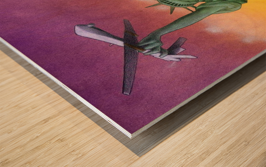 Drone Wood print