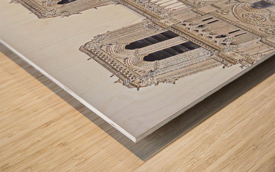 Notre Dame & Details Wood print