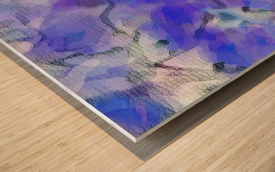 Textured Purple Wood print