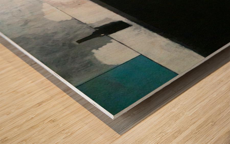 Green Line Still Life Wood print