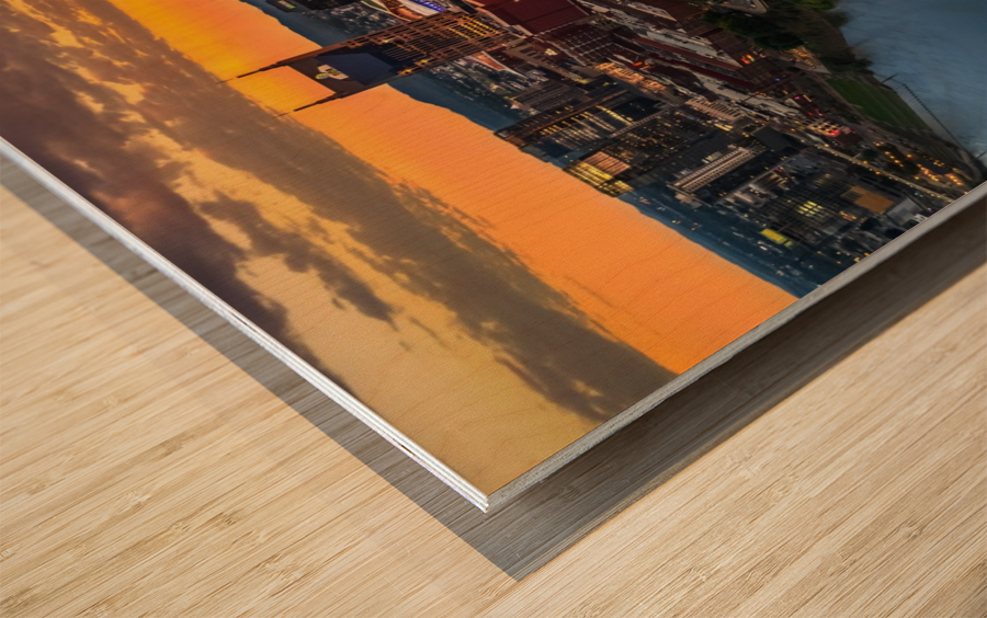 Nashville Sunset Wood print