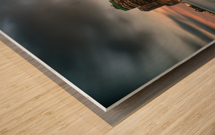 New York City Skyline at Dusk Wood print