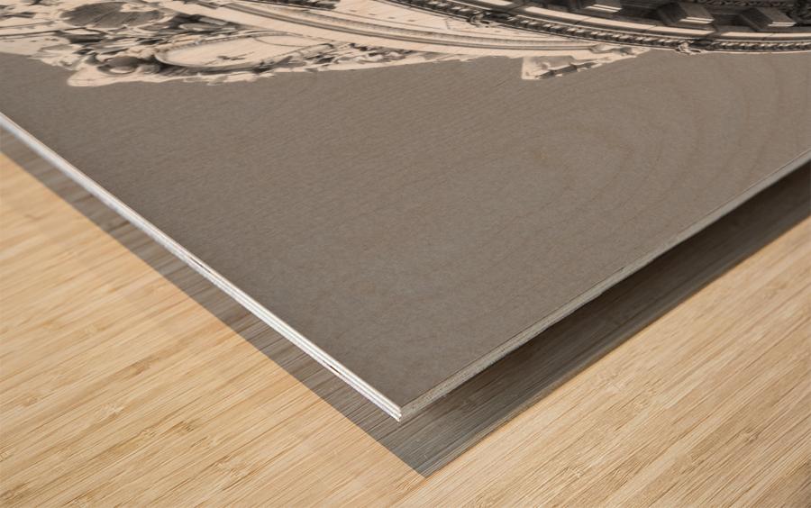 B&W Intricate Details - DTLA Wood print