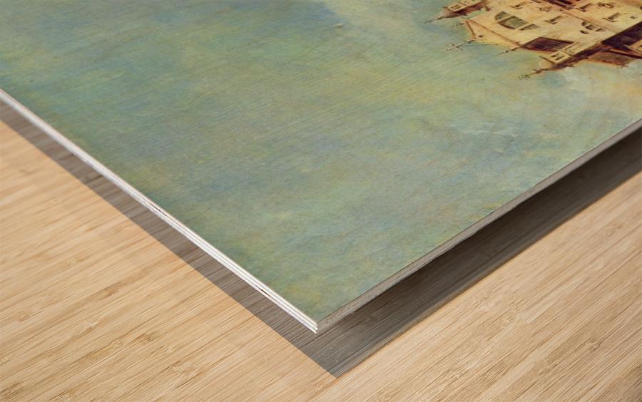 Vedute des Canale Grande zwischen Santa Lucia und der Scalzi Wood print