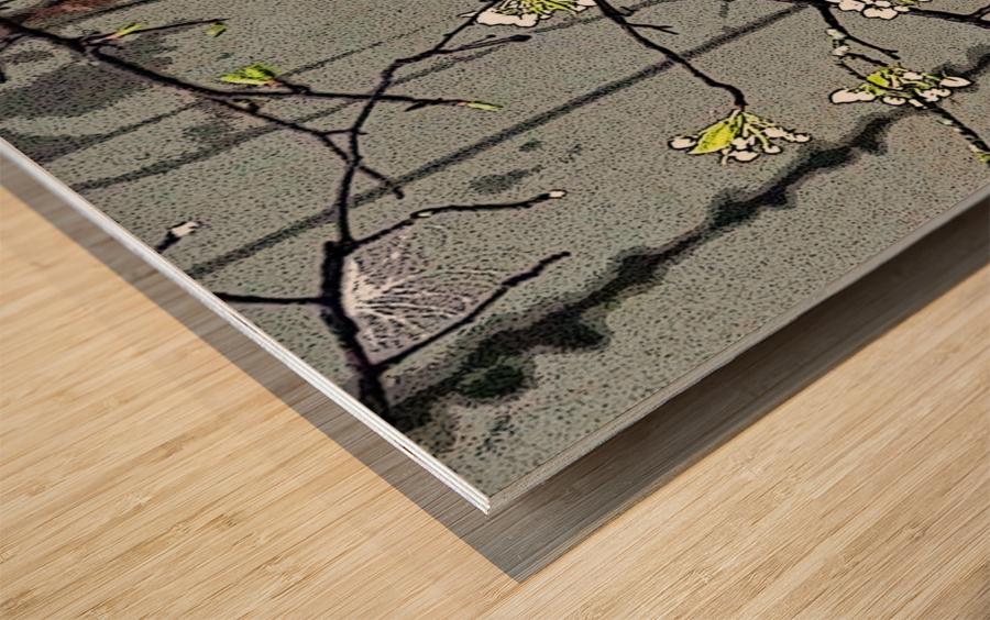 Birds & Blooms Wood print