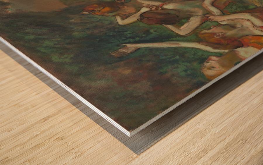Four Dancers Wood print