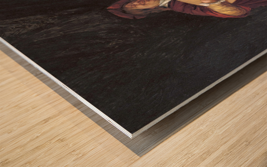 Selbstportrat als Lautenis Wood print