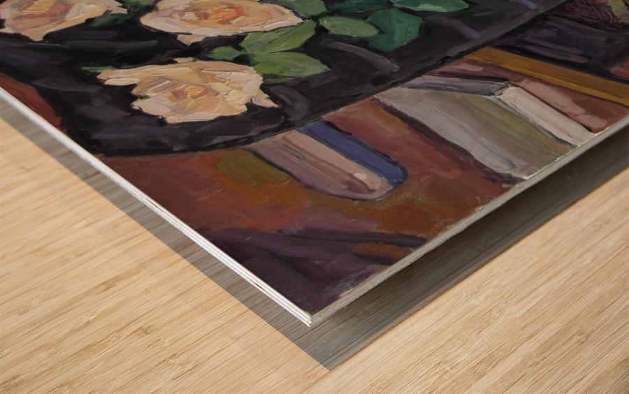 Three Roses Wood print