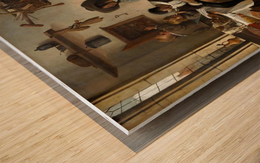 The world turned upside Wood print
