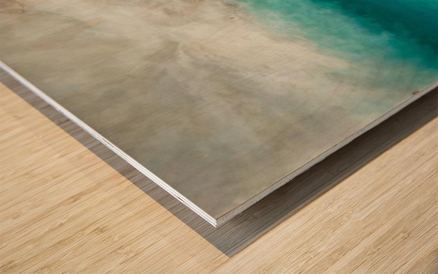 Morning Sea Wood print
