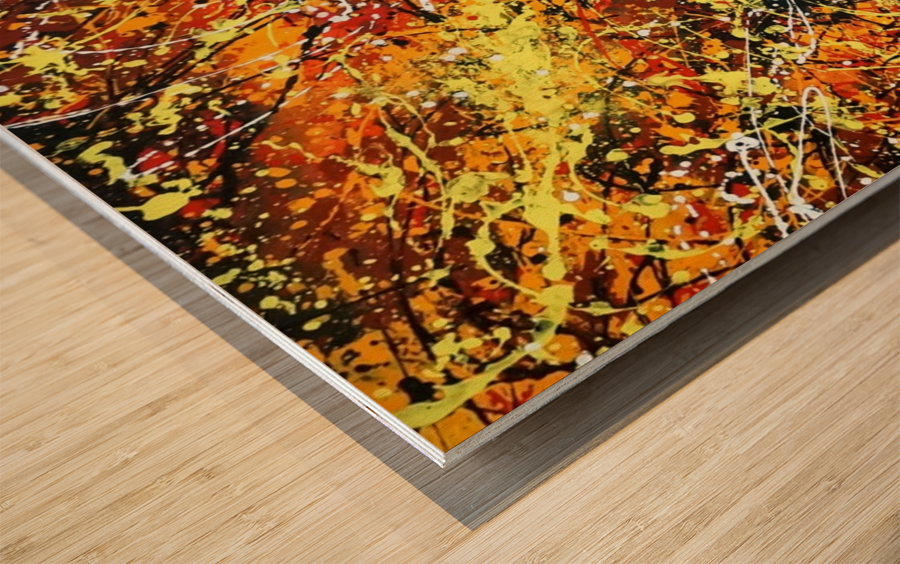 yellowy Wood print