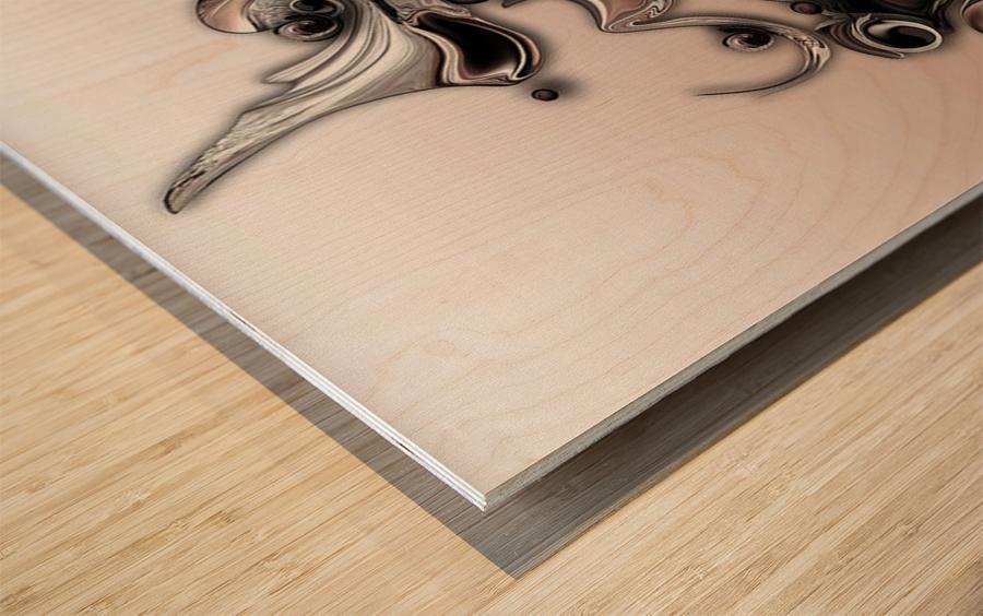 Soft Impression Of Dysplastic Departure Wood print